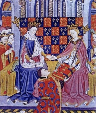 John-Talbot-1st-Earl-of-Shrewsbury-presents-the-Book-of-Romances-Shrewsbury-Book-to-Margaret-of-Anjou-wife-of-King-Henry-VI-circa-1445-425x500.jpg