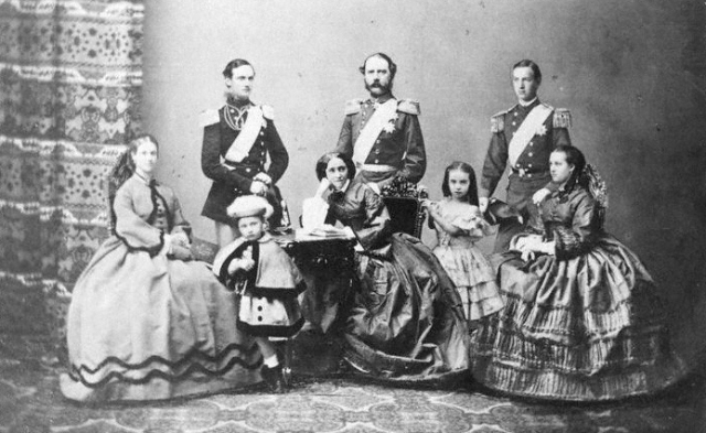NPG x74402,Christian IX, King of Denmark and his family,by Georg Emil Hansen