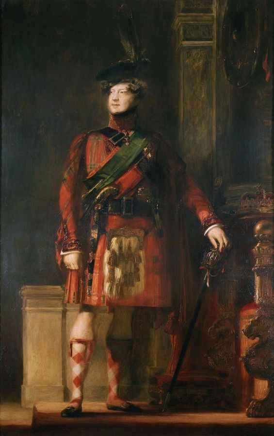 George_IV_in_kilt,_by_Wilkie