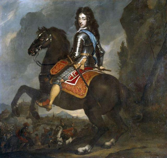 800px-Johannes_Voorhout_-_Willem_III_te_paard_-1670-2