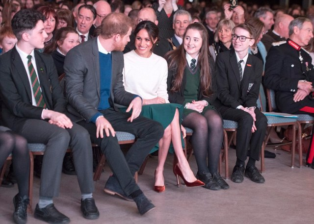 Prince Harry and Meghan Markle visited the Eikon Centre, where they attended an event to mark the second year of youth-led peace-building initiative Amazing the Space.  Funded by Cooperation Ireland and launched by Prince Harry in September 2017, Amazing the Space empowers young people across Northern Ireland to become ambassadors for peace within their communities
