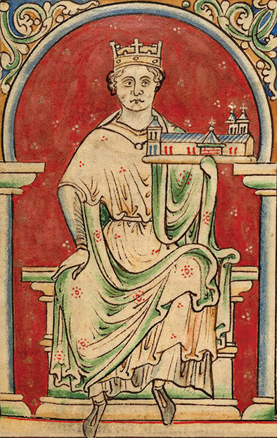 King John of England (From the Historia Anglorum, Chronica majora). Artist: Paris, Matthew (c. 1200-1259)