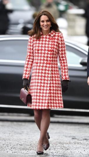 Red & White Catherine Walker Coat