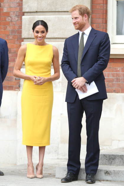 yellow brandon maxwell dress