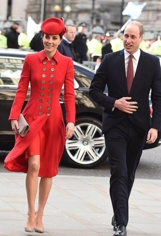 Red Catherine Walker Coatdress